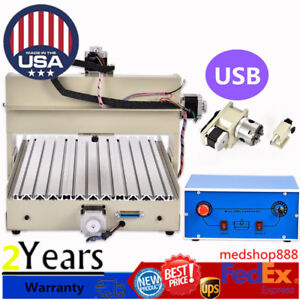 4 Axis Engraver 400w 3040 Router Engraving Woodworking Drilling Milling Machine