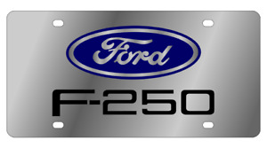 Ford F 250 Mirror Polished 3d Finish Logo Stainless Steel License Plate