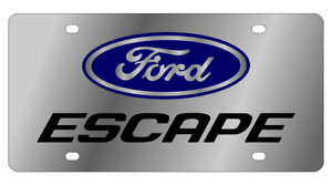 Ford Escape Mirror Polished 3d Finish Logo Stainless Steel License Plate