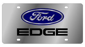 Ford Edge Mirror Polished 3d Finish Logo Stainless Steel License Plate
