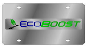 Ford Ecoboost Mirror Polished 3d Finish Logo Stainless Steel License Plate