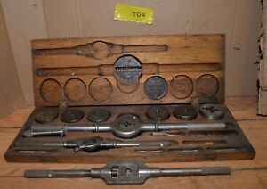 Greenfield Tap Die Set New Lightning Screw Plate Blacksmith Metal Working Lot