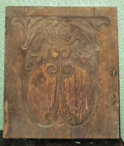 Antique Gothic Mephistopheles Carved Door Devil Lion Face Oxidized Wood Cupboard