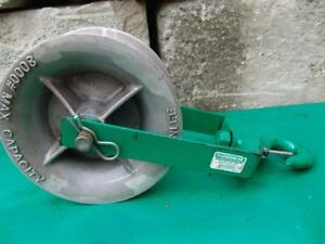 Greenlee 8012 12 Inch 8000 Lbs Sheave For Greenlee Tugger Puller Great Shape 4