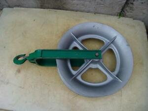 Greenlee 18 Inch 4000 Lbs Sheave For Greenlee Tugger Puller Great Shape