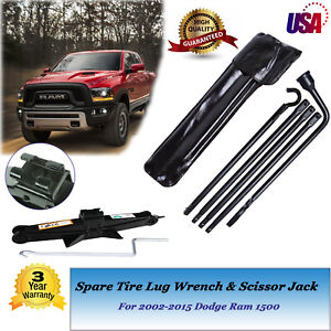 Spare Repaire Tire Tool Kit Scissor Jack For 02 15 Dodge Ram 1500 Pickup Truck