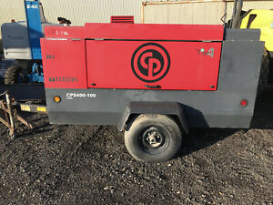 Chicago Pneumatic 400cfm Portable Air Compressor 115hp Cummins Diesel Cps400 100