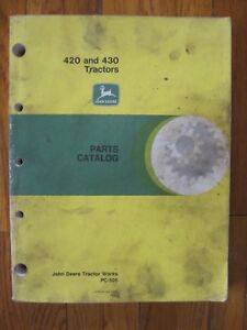 John Deere 420 430 Tractor Parts Catalog Manual Pc 505