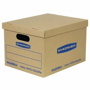 Bankers Box Smoothmove Classic Moving Boxes Tape free Assembly Easy Carry 15 X