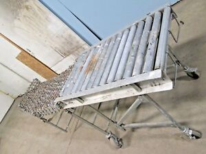 Heavy Duty Commercial industrial Rolling Portable flexible Conveyor 80