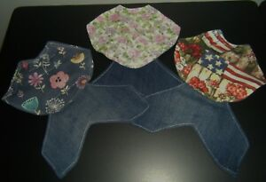 4 Denim Deluxe Silkie Chicken Saddle Hen Apron Wings Back Shoulder Hatching Egg