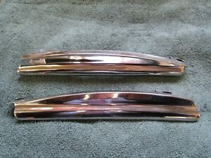 1955 1956 Ford Mercury Top Of Quarter Window Stainless L R Restored