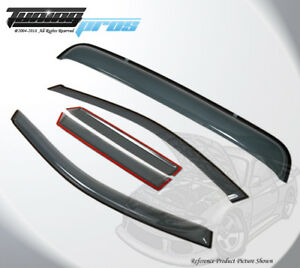 Light Smoke Rain Visor Sunroof Combo 5pc Out channel For Dodge Charger 2011 2016