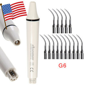 Usa Dental Ultrasonic Piezo Scaler Handpiece 15 Tips G6 Fit Ems Woodpecker St