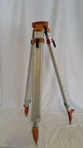 Used Aluminum Survey Tripod Legs Adjust 40 To 63 Very Good Condition