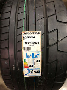 2 New 305 30 20 Bridgestone Potenza Re070 Tires