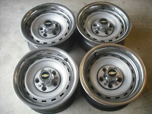 1973 87 Chevy Truck Rally Wheels 15 Vry Gd Gm Square Body Part Silverado Set 4