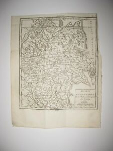 Early Vintage Antique 1750 Russia In Europe Vaugondy Copperplate Map Dated Rare