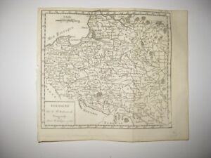 Early Vintage Antique 1750 Poland Vaugondy Copperplate Map Dated Rare Fine Cond
