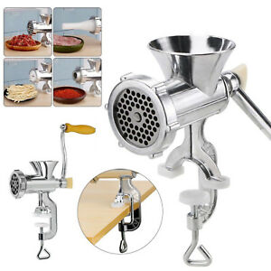 Table Hand Manual Meat Grinder Mincer Stuffer Sausage Pasta Filler Maker Machine
