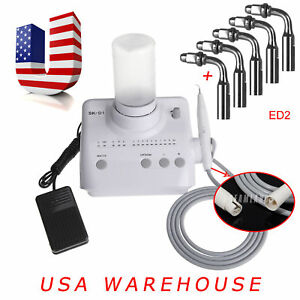 Dental D1 Ultrasonic Electric Scaler Fit F Dte Satelec With Extra 5pcs Tips Ed2