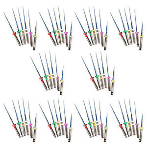 10 Box Dental Niti Rotary Files Twisted Tips For Endo Motor Root Canal Treatment