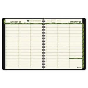 At a glance Recycled Weekly monthly Classic Appointment Book 13 mos Green Cover