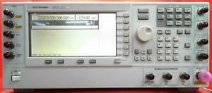 Hp agilent E8267d Psg Vector Signal Generator 250 Khz To 20 Ghz My45470001 opts
