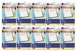 Avery Mini Binder Filler Paper College Ruled 8 1 2 X 5 1 2 100 sheets Pk 10