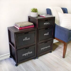 Jia Home Tory 2 drawer Mobile File Cabinet