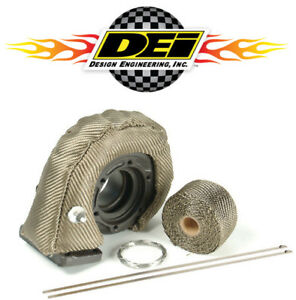 Dei 010141 Titanium T3 Turbocharger Heat Shield Kit W 2 X 15 Wrap