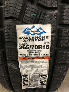 2 New 265 70 16 Hercules Avalanche X Treme Snow Tires
