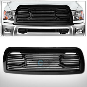 Fits 10 18 Dodge Ram 2500 3500 Glossy Black Big Horn Front Bumper Grille W shell