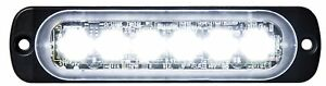 Buyers 8891901 6 Led Clear Horizontal Low Profile Strobe Light Surface Mount