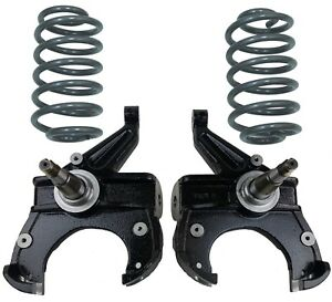 Chevy C10 Drop Spindles Coils 2 5 4 Suspension Lower Fits 71 72 W disc Brakes