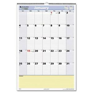 At a glance Quicknotes Wall Calendar 13 Month January january 15 1 2 X 22 3 4