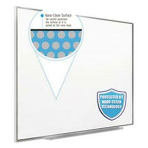 Quartet Fusion Nano Clean Magnetic Dry Erase Whiteboard 48x36 In Silver Frame