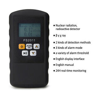 Geiger Counter Nuclear Radiation Detector Tester Beta Gamma X ray Meter Monitor