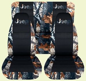 Jeep Wrangler Yj Camo Realtree Blck Front Rear Car Seat Covers Jeep With Desi
