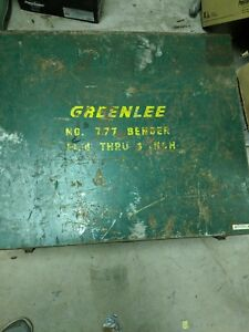 Greenlee 777 Portable Hydraulic Bender Local Pickup Only Central Ct