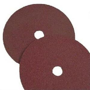 Virginia Abrasives 7 X 0 1 In 120 Grit Resin Fiberglass Sanding Disc Pack Of 25