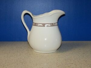 Fabulous Vintage Ironstone Porcelain Milk Pitcher Mcnicol China 7 Inches Tall