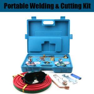 Gas Welding Cutting Kit Oxy Acetylene Oxygen Torch Brazing Fits For Victor