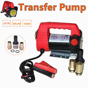12v Dc Diesel Biodiesel Kerosene Pump Cast Electric Fuel Transfer Pump Oil Motor