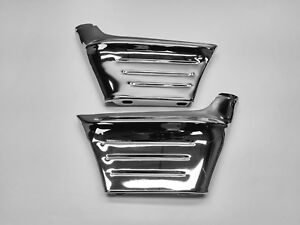 1956 56 Chevy Belair 210 150 Front Fender Chrome Side Extension Wrap Corner Pair