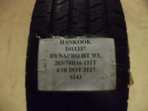 2 Hankook Dynapro Ht 265 70 16 111t New Tires Wo Label 1011337 Q8