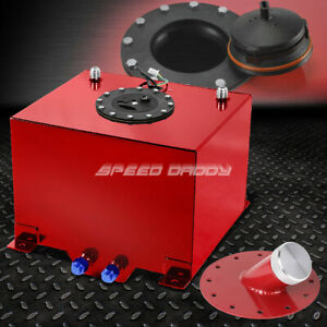 8 Gallon Red Coated Aluminum Fuel Cell Gas Tank Level Sender 45 Fast Fill Neck