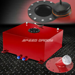 20 Gallon Red Coated Aluminum Fuel Cell Gas Tank level Sender 45 Fast Fill Neck