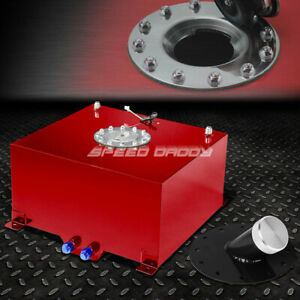 10 Gallon 38l Red Aluminum Fuel Cell Tank cap level Sender 45 Fast Fill Neck