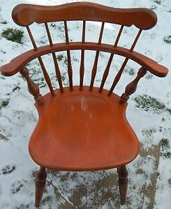 Ethan Allen Comb Back Mate S Chair Heirloom Nutmeg Maple 10 6040 Side